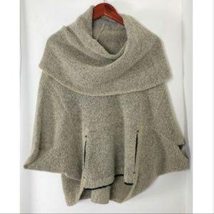 Anthropologie Funnel Neck Short Slv Sweater Poncho